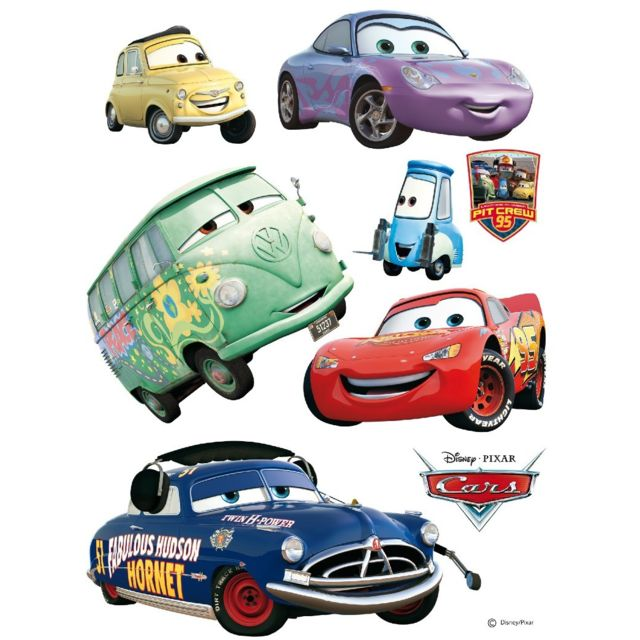 Bebe gavroche stickers géant doc hudson voiture cars disney