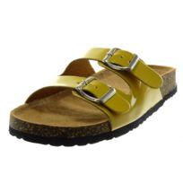 Angkorly - Mule Sandale slip-on - boucle verni liège