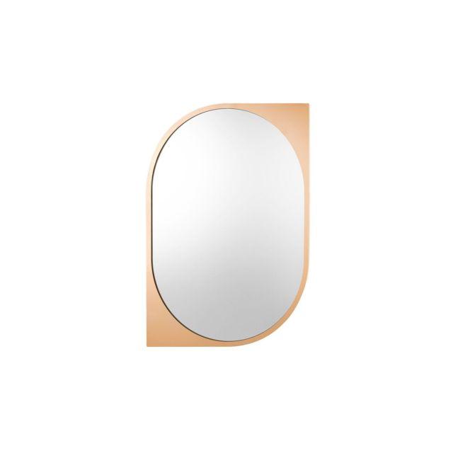 BELIANI Miroir mural oval doré HIREL - or