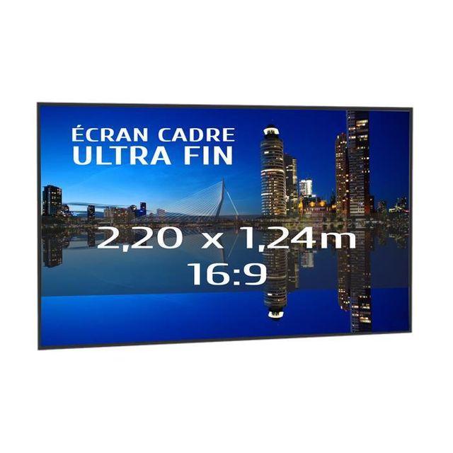 kimex ecran de projection sur cadre 2 20 x 1 24m format 16 9 s rie slim vendu par. Black Bedroom Furniture Sets. Home Design Ideas