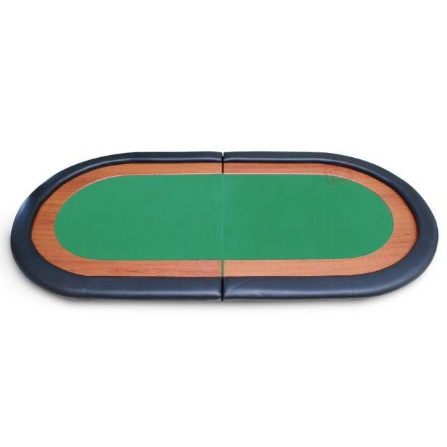 Pokeo Plateau de poker racetrack 8 joueurs 180x90 vert