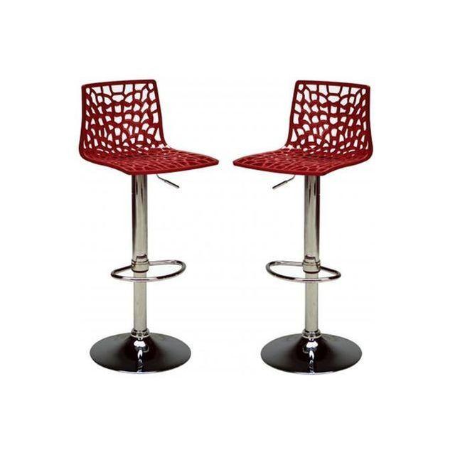 Lot De 2 Chaises De Bar Modernes Ajustables Sparte