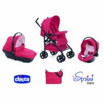 Chicco - Trio Sprint Black Poussette + Nacelle + Siège-auto red passion
