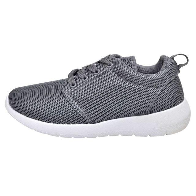 c95f86b3492b0 Vidaxl - Chaussures de running femme grises à lacets taille 36 - pas cher  Achat   Vente Entretien des chaussures - RueDuCommerce