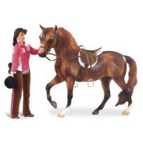 Breyer - 1409 - Figurine - Animal - Coffret En Selle - Cheval Avec Figurine, Poster Et Accessoires