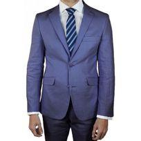 Kebello - Costume homme Lin bleu Sm10