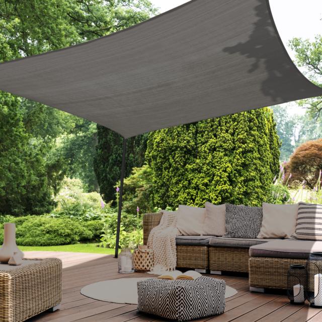 CelinaSun Voile dombrage Pare-Soleil Jardin Balcon Polyester PES hydrophobe
