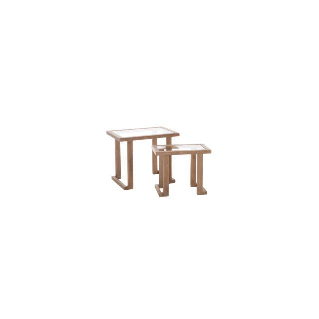 Hellin Set De 2 Tables Gigognes Rectangulaires Borr
