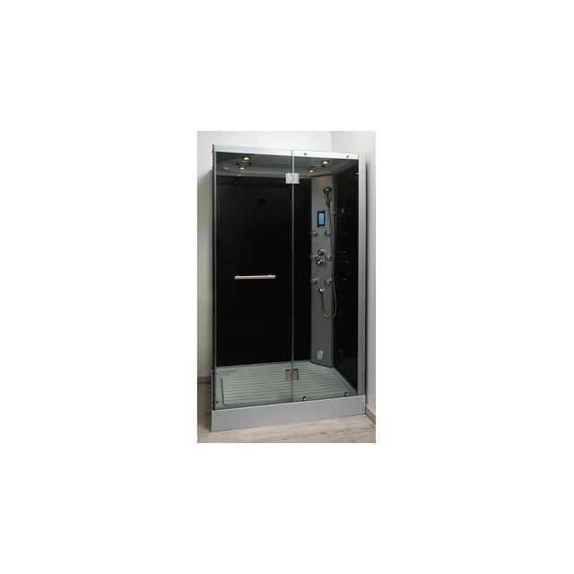 aqua cabine de douche rectangulaire hammam fiza 80x120 cm pas cher achat vente cabine de. Black Bedroom Furniture Sets. Home Design Ideas