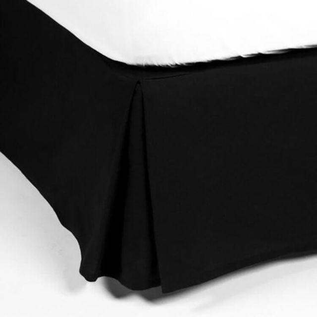 Cache Sommier 90x190 En Coton Noir 220 Grm2 Alacasa