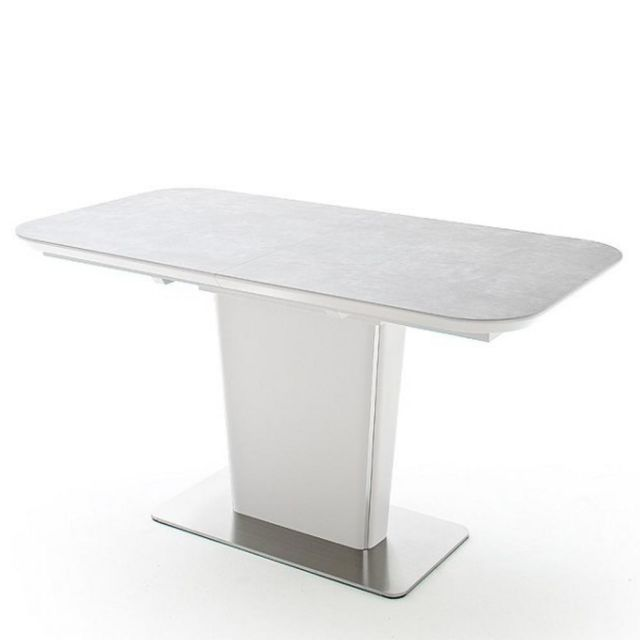 Inside 75 Table repas extensible Keita céramique gris clair 140 x 85 cm