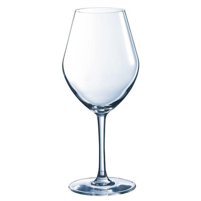 Chef & Sommelier Verre à vin blanc en kwarx Fruity transparent 35cl - Coffret de 6 Arom Up