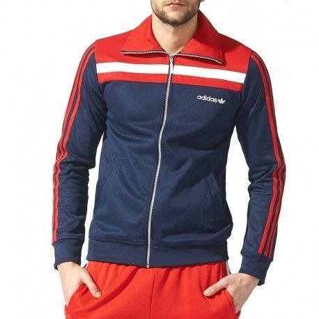 Adidas Bleu Europa Tracktop 83 Veste Homme originals 8wPOnX0k