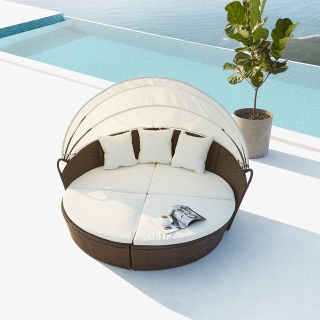 CONCEPT USINE - Cocoon : salon de jardin modulable 6/8 personnes en ...