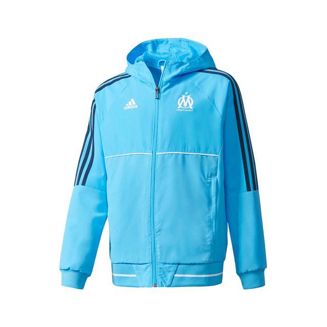 Adidas performance veste pr sentation om bleu junior pas cher achat vente coupe vent - Coupe vent adidas junior ...