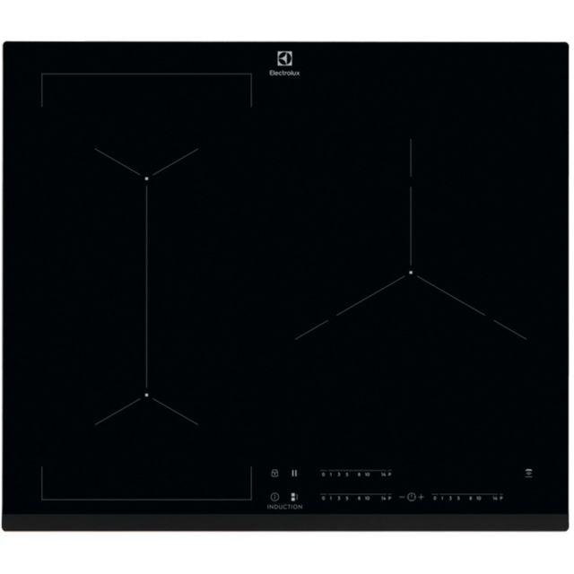 ELECTROLUX table de cuisson à induction 59cm 3 feux 7200w flexinduction noir - eiv63343