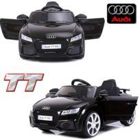 Audi - Voiture électrique enfant 12 volts Tt S pack luxe noir à télécommande parentale