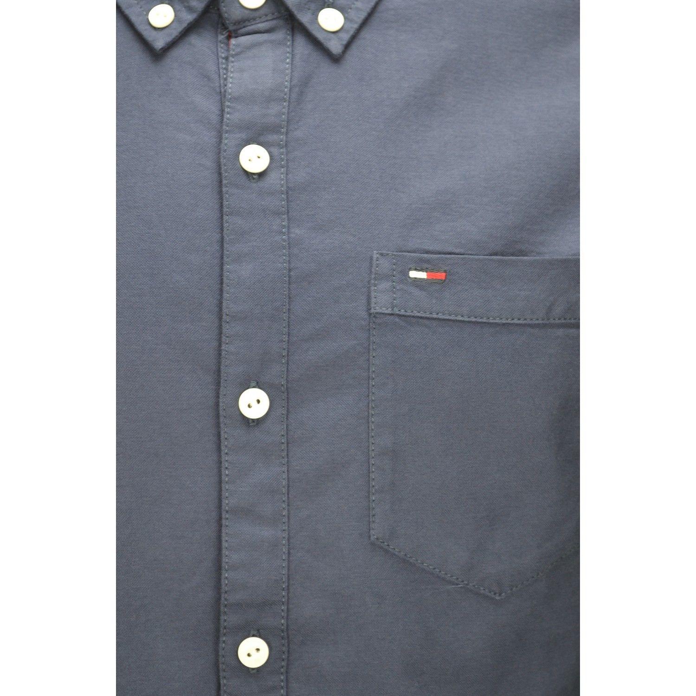 cf71d815d5027 Hilfiger - Chemise Tommy basique bleu marine pour homme - pas cher ...