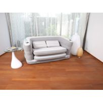 Canapé convertible gonflable Multi Max II - 160 x 68/200 x 64 cm + 2  Coussins