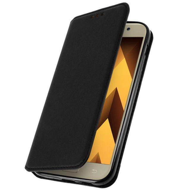 Avizar - Housse clapet portefeuille Samsung Galaxy A5 2017 - Noir - Fonction support
