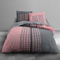 Today - Housse de couette Pink Vision 220x240 + 2 taies 100% coton 57fils