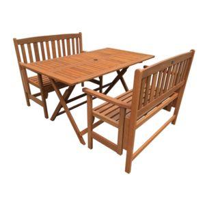 habitat et jardin salon de jardin repas shangha maple marron clair nc pas cher achat. Black Bedroom Furniture Sets. Home Design Ideas