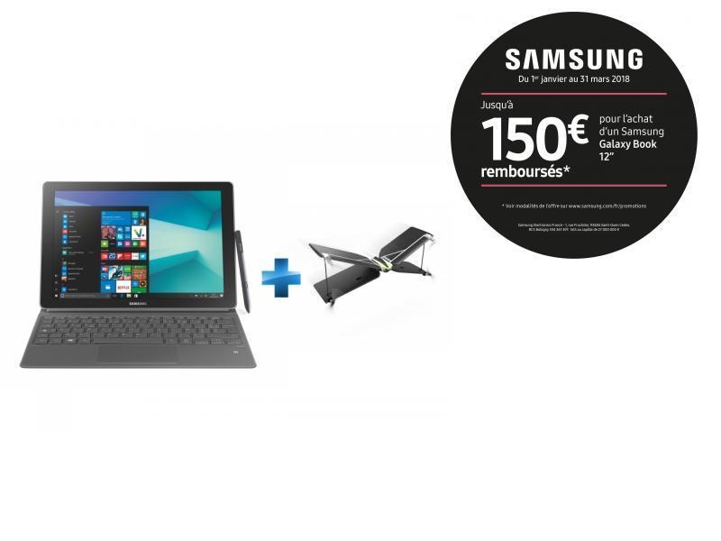 Galaxy Book - 12'' - 128 Go - Argent + Mini drone Swing + Radiocommande Flypad - PF727003 - Noir et Blanc