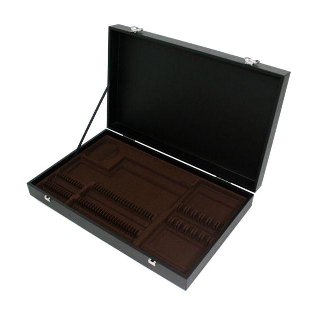 Az boutique - Coffret en bois noir pour ménagère 48 ou 50 pièces - Coffrets & écrins
