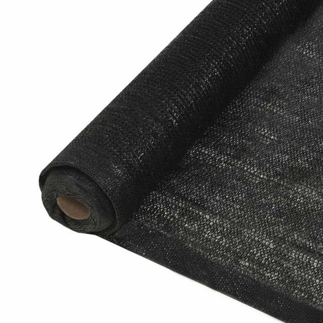 Vidaxl Filet brise-vue Pehd 2 x 10 m Noir
