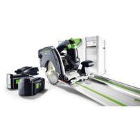 Festool - Scie circulaire capot basculant - Sans fil - HKC 55 EB Li-PLUS + rail de guidage FSK 420 - 564624