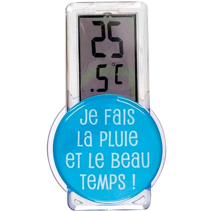 Thermomètre Digital d'extérieur - Pluie et Beau Temps