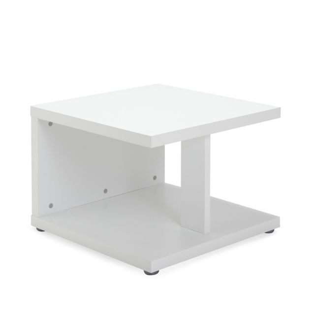 Alinea Pump Table Basse Blanc Mat Pas Cher Achat Vente Tables