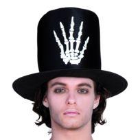 Chapeau haut de forme main squelette homme - taille - Taille Unique - 217034 9670a7439cb