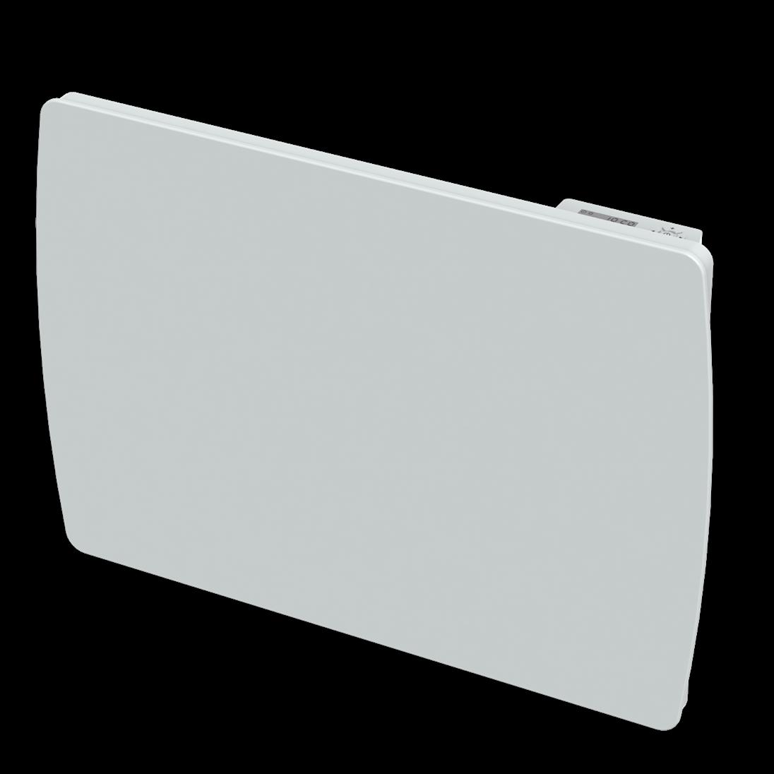 Radiateur inertie à cœur céramique - Verre blanc -1000W- LCD