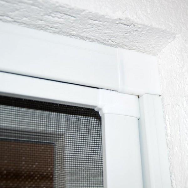Moustiquaire Coulissante Porte et Baie-vitrée - Alu Blanc L230 x H240 cm à découper soi-même