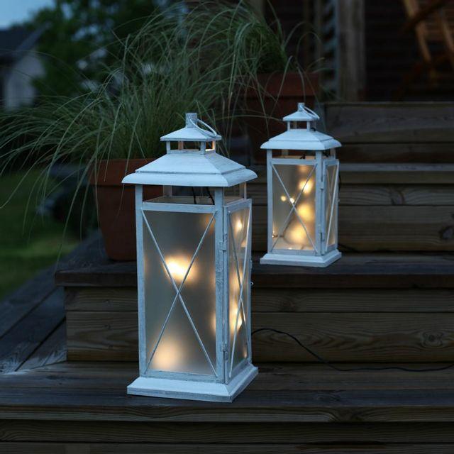 Ext rieur lampadaire blanc for Par led exterieur