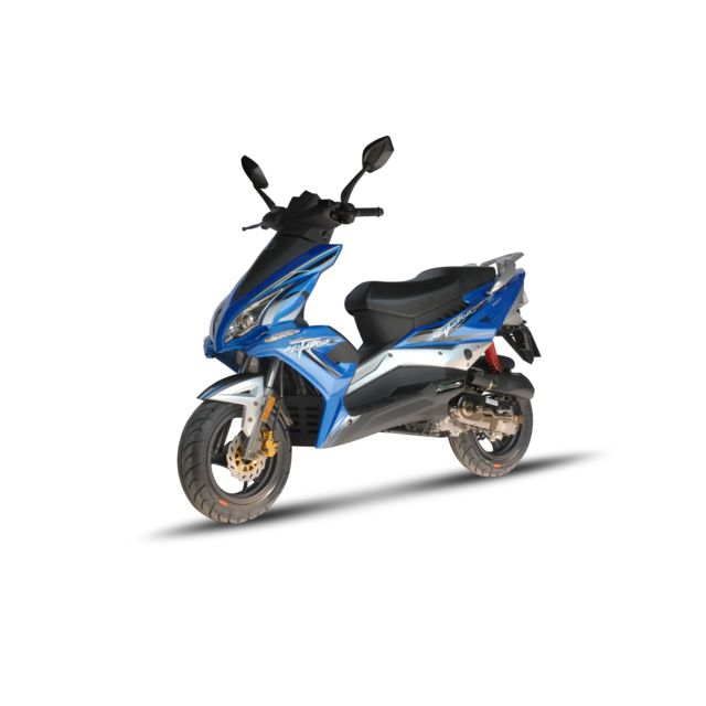 scooter 50 cc 4t r8 blanc bleu thermique eurocka vendu. Black Bedroom Furniture Sets. Home Design Ideas