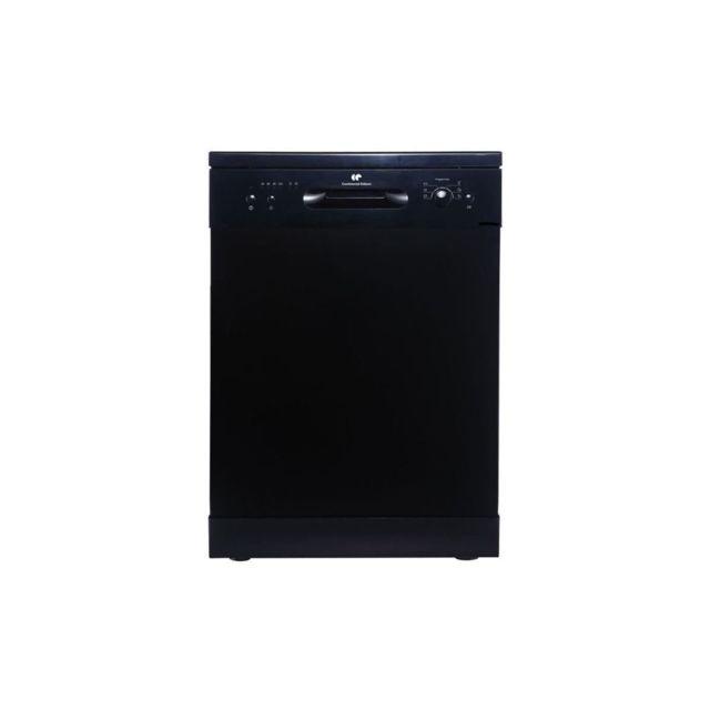 Continental Edison Lave-vaisselle - Noir - 12 Couverts - 6 Prog A++aa - 47db
