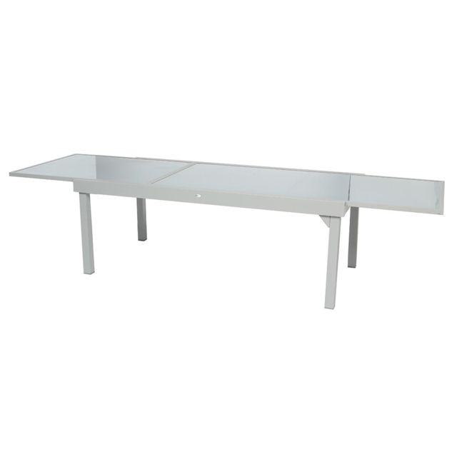 HESPERIDE - Table extensible rectangulaire en verre Piazza 8 ...