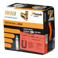 SPIT - 142037 Pointe lisse IM90I galva + Gaz - 3,1 x 90 mm - Pack de 2500