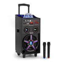 AUNA - DisGo Box 100 Enceinte sono DJ mobile & lumière disco Bluetooth USB 100W RM