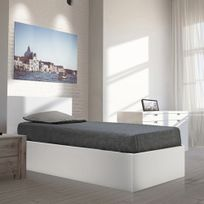 lit coffre 90x190 achat lit coffre 90x190 pas cher rue du commerce. Black Bedroom Furniture Sets. Home Design Ideas