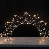 Xmas Living Glass - Edge Bow - Lampe à poser Filament Chrome Led H27cm - Lampe à poser designé par