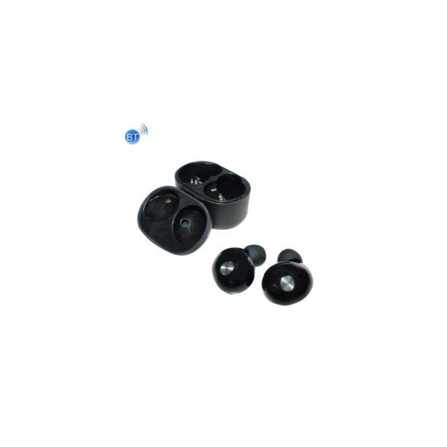 Auto-hightech écouteur stéréo binaural sans fil Bluetooth universel, mini écouteur intra-auriculaires avec boite de chargement, pour i