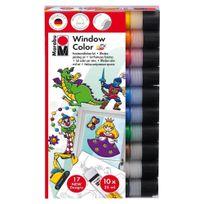 Marabu - Set Peintures Fenêtres Windows Color - 10x25ml