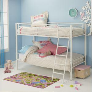 marque generique lit superpos en m tal inert b r blanc 90cm x 190cm pas cher achat. Black Bedroom Furniture Sets. Home Design Ideas