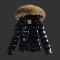 2765b2acb13b Wewoo - Vestes et manteaux Femme noir Femmes Hiver Élégant Grand Fourrure  De Col De Chapeau