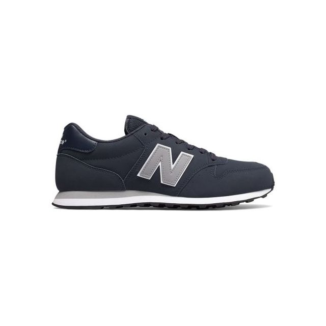 chaussures new balance gm500 blanc bleu marine