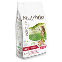 Nutrivia - Nature - Croquettes à la Dinde Poulet et Canard pour Chat Adulte - 5Kg