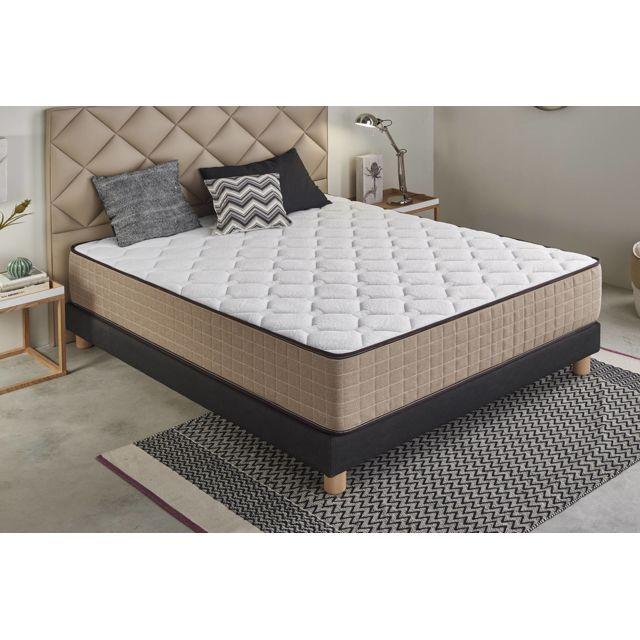 Moonia Matelas Cashmere Confort - 80X190, 30Cm, Ergonomique / relaxation